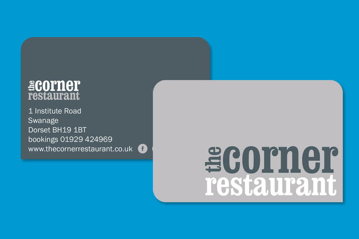 Print design | Corner Restaurant Business Cards