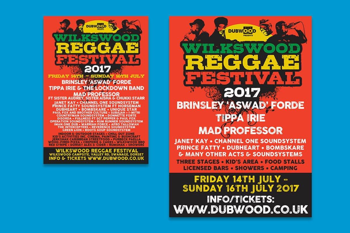 Print design | Wilkswood Reggae Festival flyers & posters