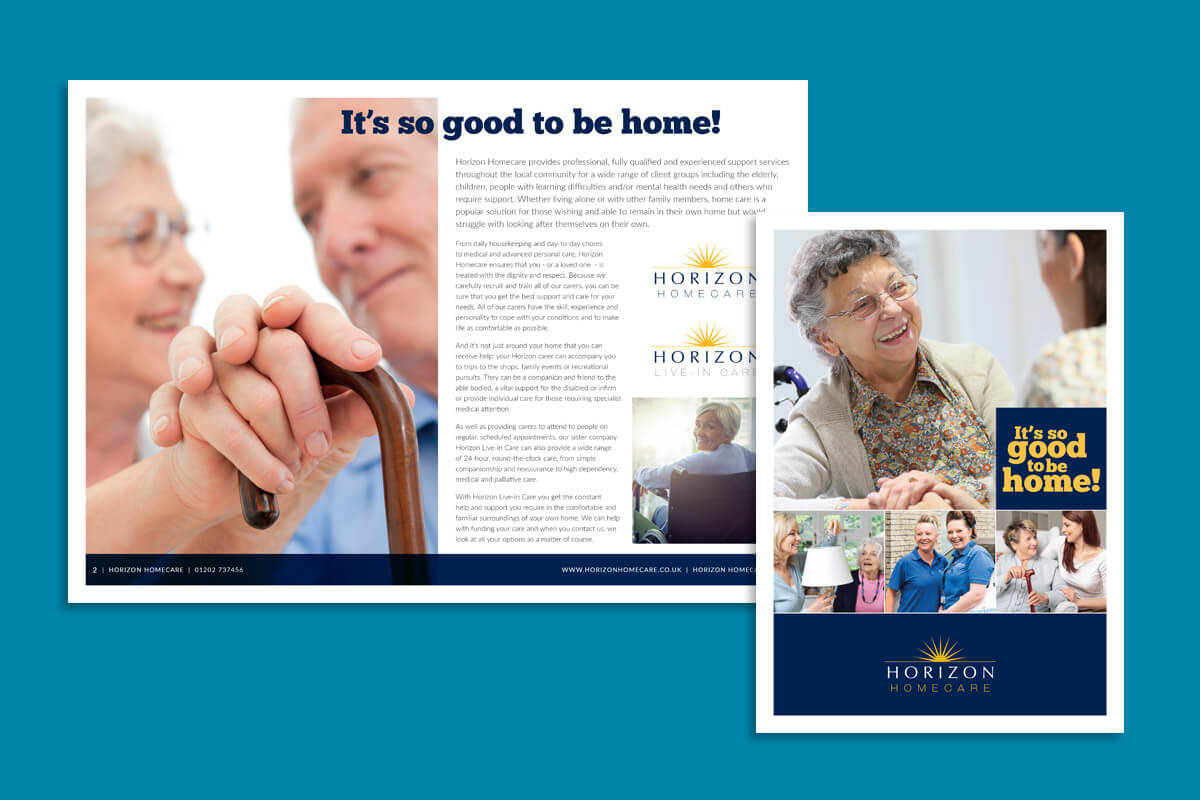 Print design | Horizon Homecare sales brochure
