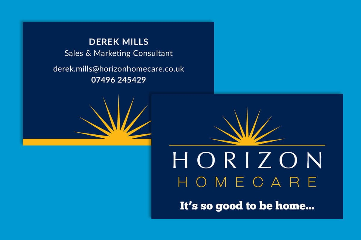 Print design | Horizon Homecare Business Cards