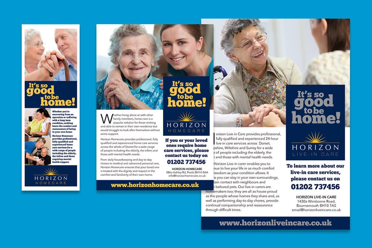 Print design | Horizon Homecare flyers