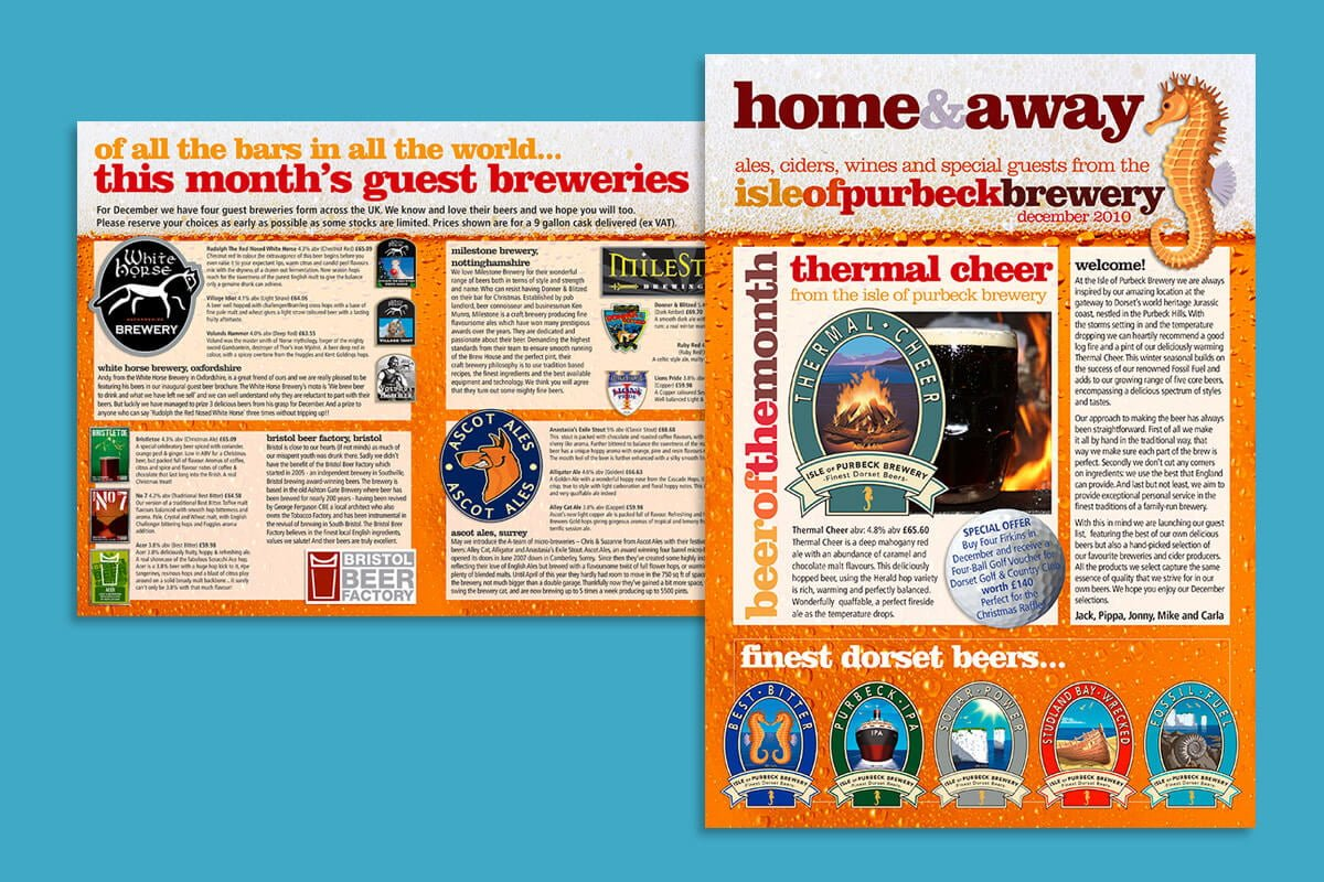 Print design | Isle of Purbeck Brewery newsletter