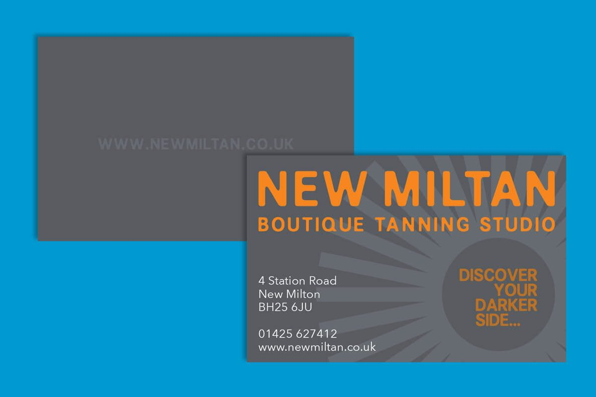 Print design | New Miltan Business Cards