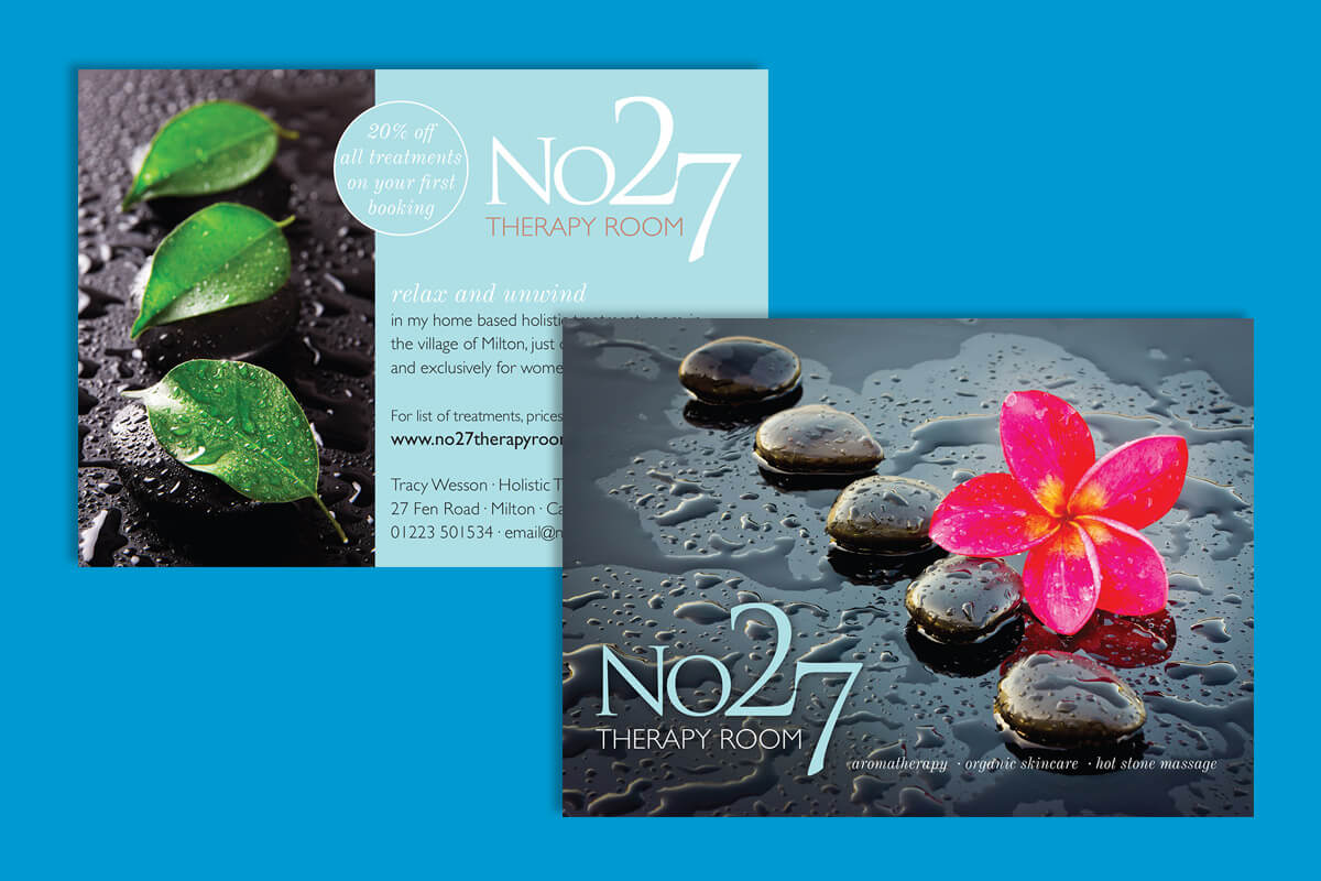 Print design | No 27 Therapy Room flyers