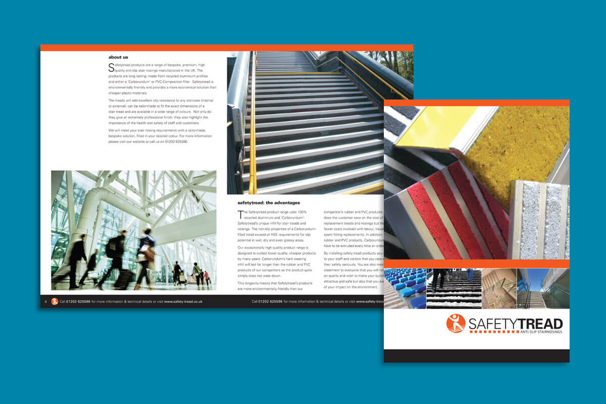 Print design | Safetytread Brochure | Bell Plastics