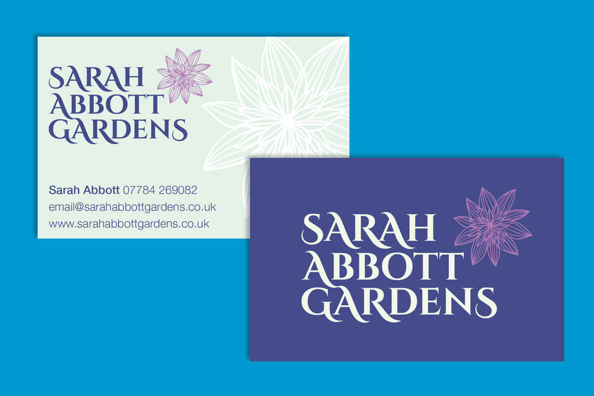 Print design | Sarah Abbott Gardens Business Card