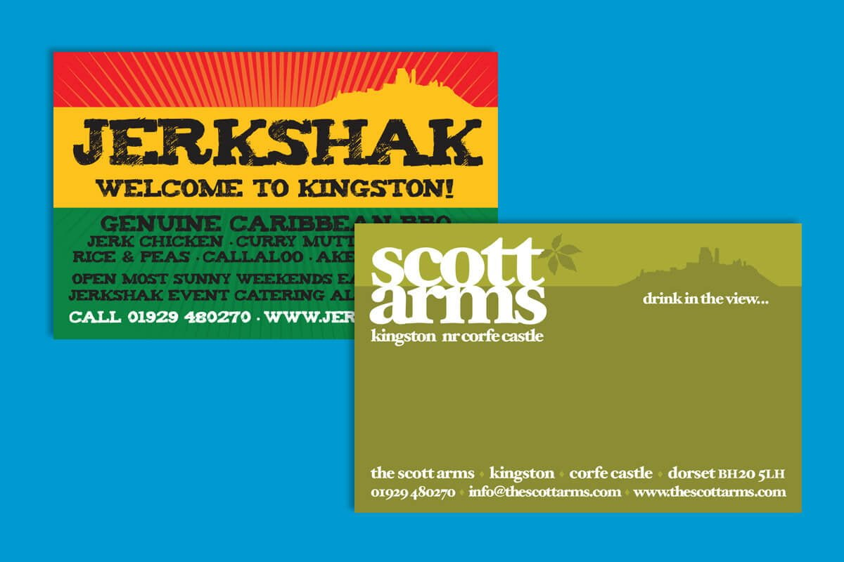 Print design | Scott Arms & Jerkshak Business Card