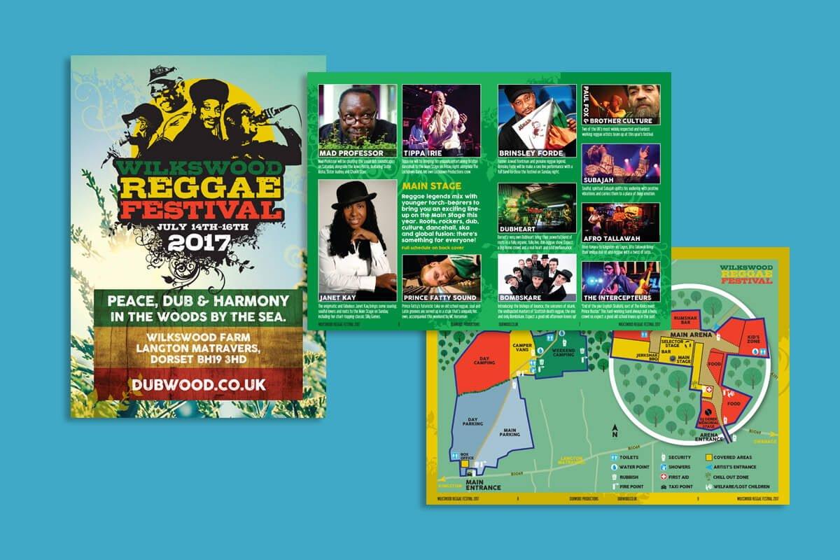 Print design | Wilkswood Reggae Festival programme