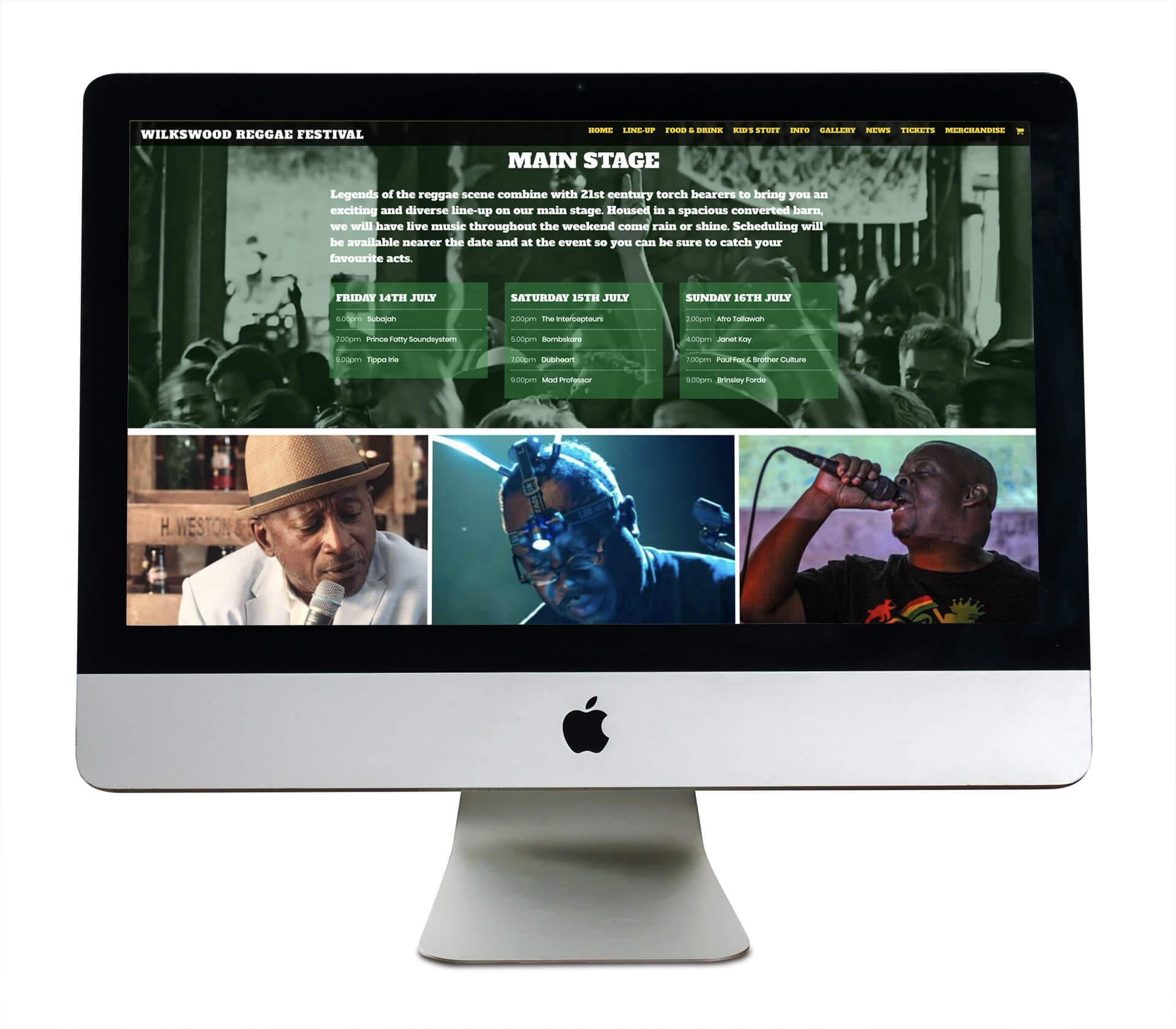 Tidal Studios | Wilkswood Reggae Festival website