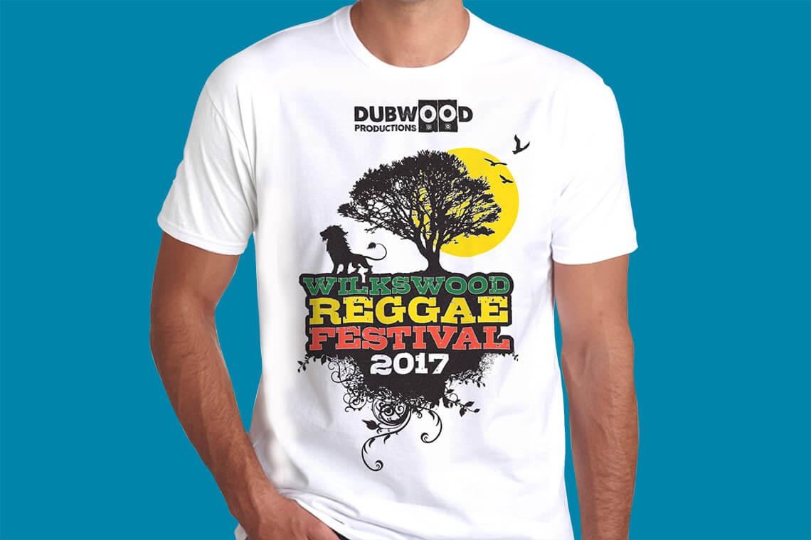 Tidal Studios | Wilkswood Reggae Festival t-shirts