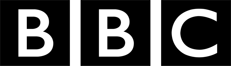 The rugged, angular shapes of the Adidas logo contrast with the solid, durability of the BBC logo.