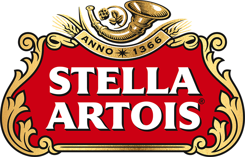 Established since 1366, Stella Artois' original horn logo not changed for centuries.