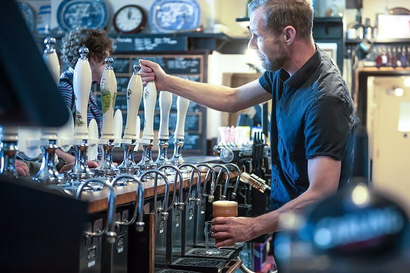Tidal Studios | Pouring a pint in the Bankes Arms Studland