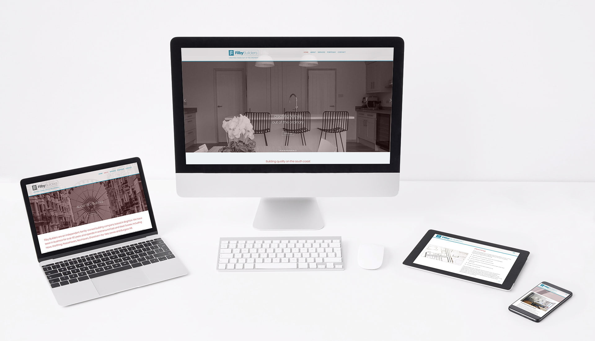Tidal Studios | Filby Builders website design