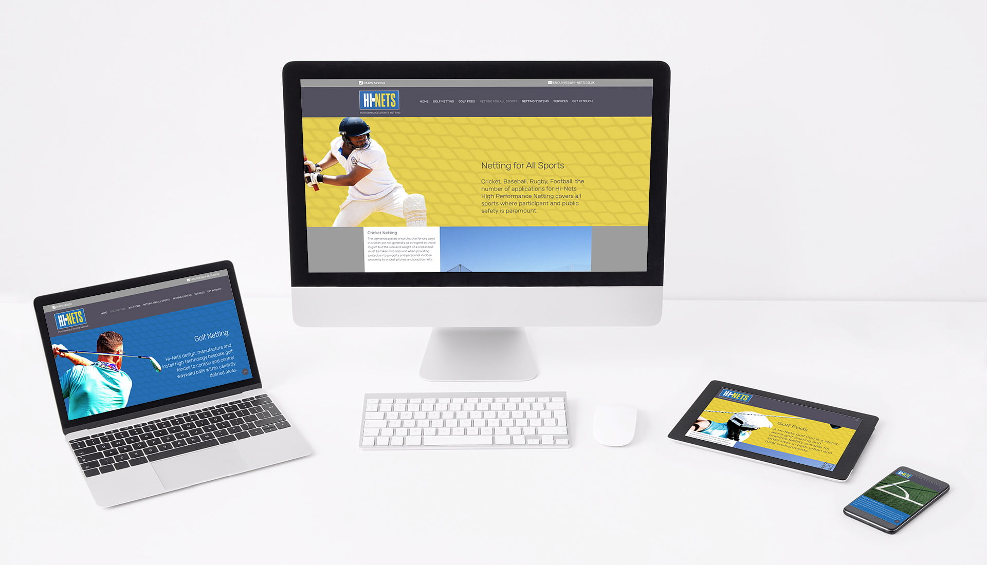 Tidal Studios | Hi-Nets website design