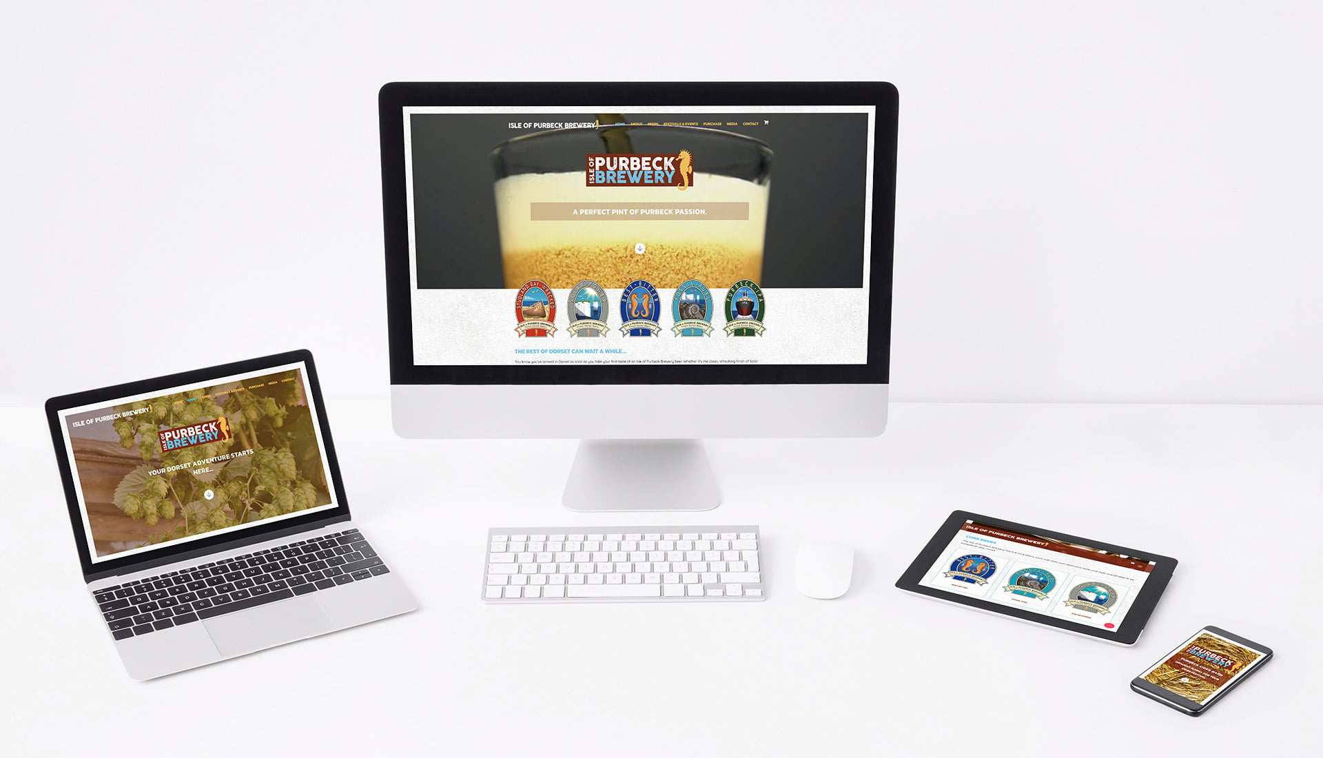 Tidal Studios | Isle of Purbeck Brewery website design