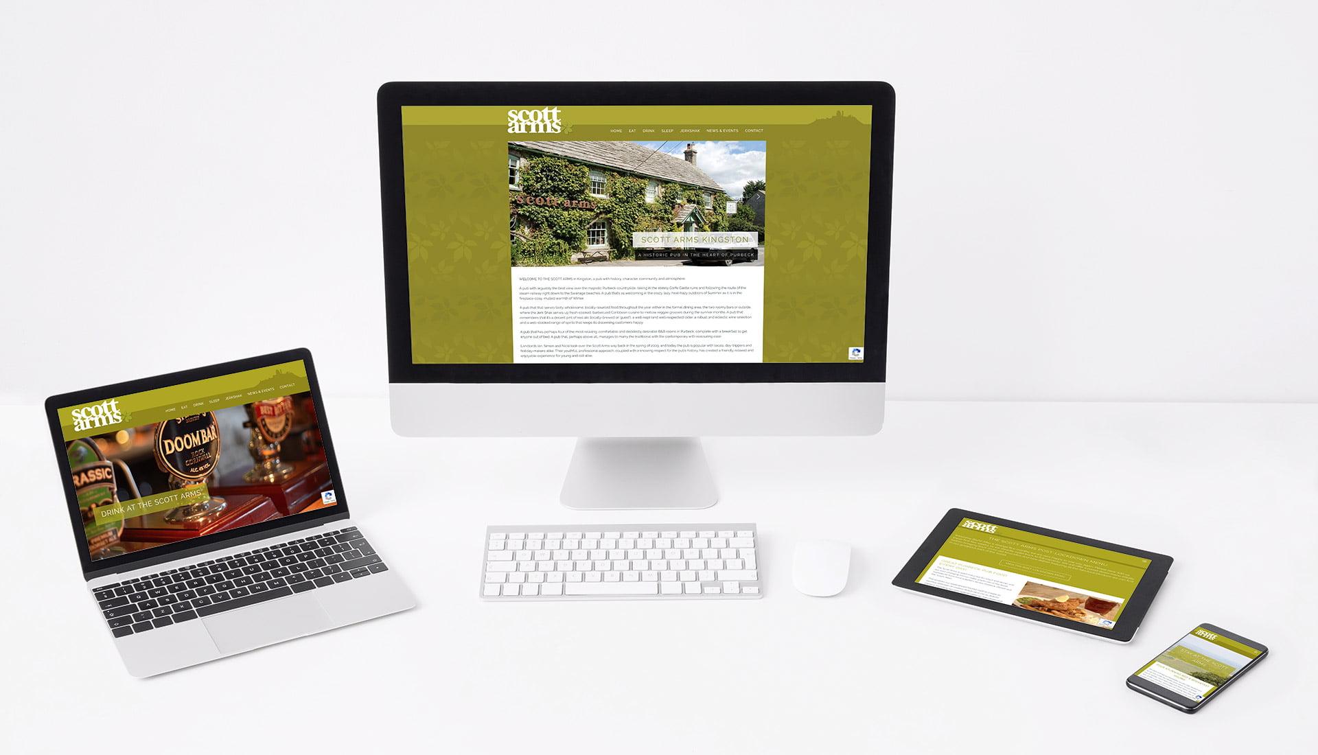 Tidal Studios | The Scott Arms website design